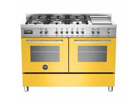 Bertazzoni PRO120 6G MFE D Professional Series 120cm 6-Burner + Griddle Electric Double Oven