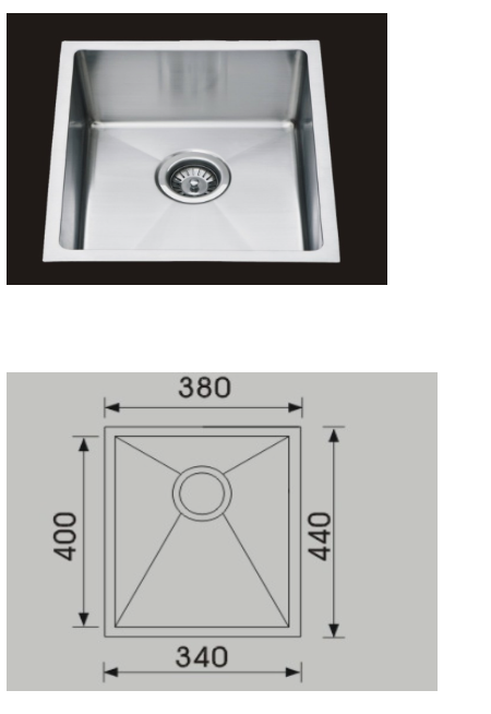 Unique Piato Stainless Steel Undermount Sink F-3844