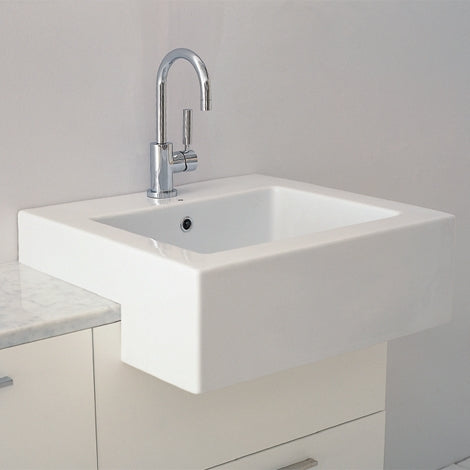 Parisi 600mm semi recess basin