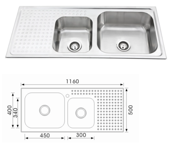 Unique Giordano Stainless Steel Sink NH-373S