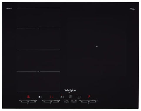 Whirlpool SMC653FBTIXL 6TH SENSE FlexiSlide 65cm 3 Zone Induction Cooktop