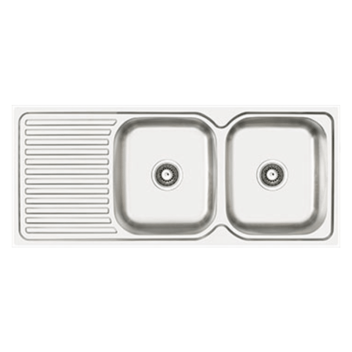 Abey EN200R Entry Right Hand Double Bowl Stainless Steel Sink