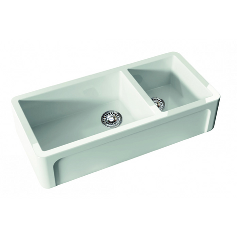 Canterbury OXF5430 Oxfordshire Offset 1003mm Patterned One & Three Quarter Bowl Sink