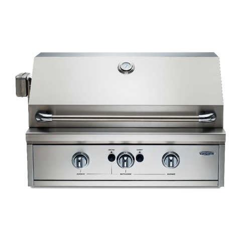 Capital PRO32RBI N/L 835mm Built-in Open Grill BBQ with Solid Flat Plate