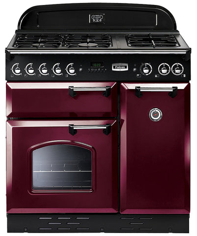 Falcon CLA90DFFCY/CH Classic 90cm Upright Dual Fuel Cooker
