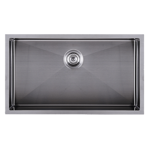 Abey CR720UGM Piazza Gun Metal Grey Stainless Steel Sink