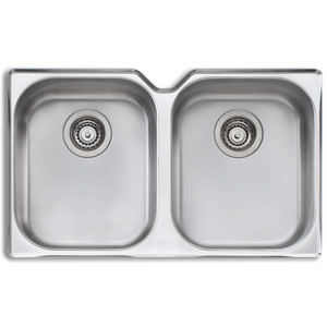 Oliveri DZ10U Diaz Double Bowl Undermount Sink