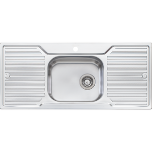 Oliveri DZ133 Diaz Single Bowl Sink With Double Drainer