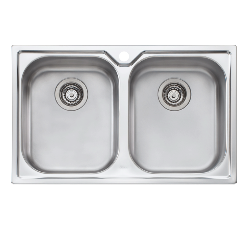 Oliveri DZ163 Diaz Double Bowl Topmount Sink