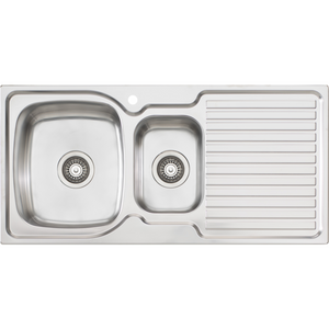 Oliveri EE01 Endeavour 1 & 1/2 Bowl Sink With Drainer