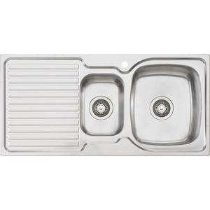Oliveri EE02 Endeavour 1 & 1/2 Bowl Sink With Drainer