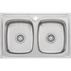 Oliveri EE23TU Endeavour Double Bowl Universal Sink