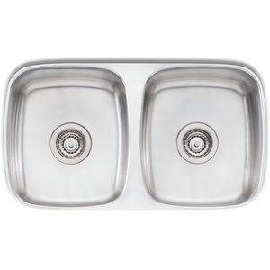 Oliveri EE63U Endeavour Double Bowl Undermount Sink