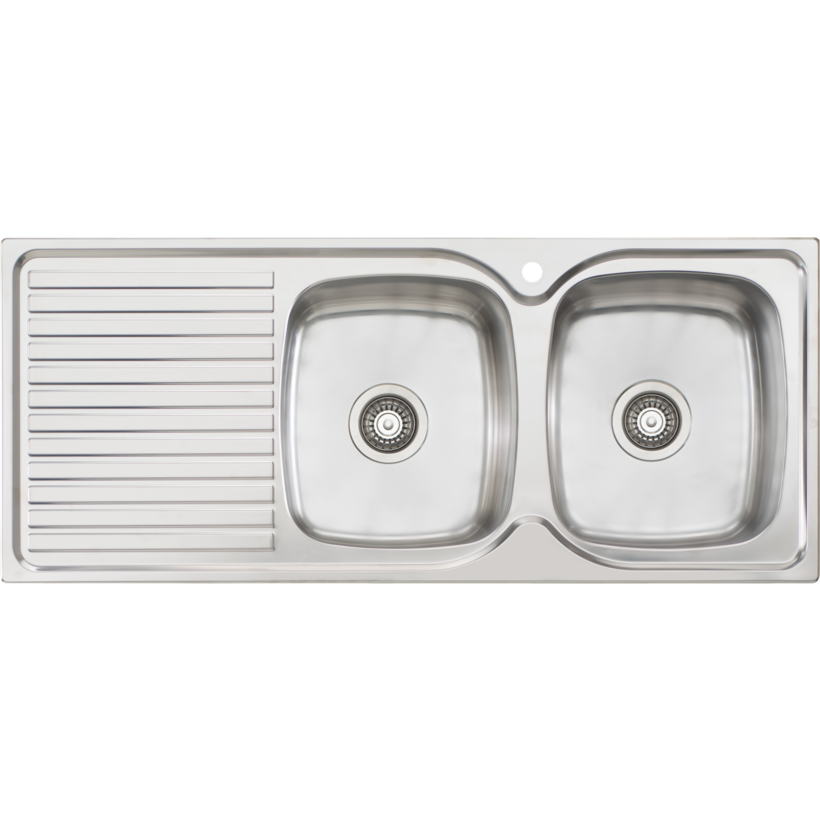 Oliveri EE72 Endeavour Single Bowl Sink With Drainer