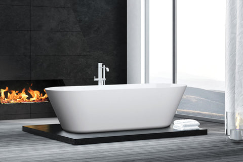 Decina EL1500S Elinea 1500mm White Freestanding Bath