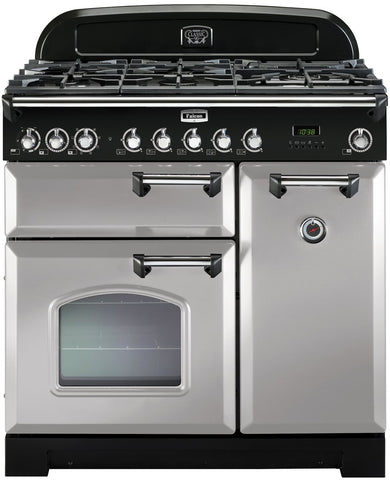 Falcon CDL90DFRP/CH Classic Deluxe 90cm Upright Dual Fuel Cooker