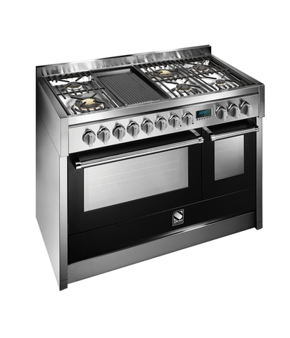 Steel G12SF-6B OT Genesi Range 120cm Brass Burner Combi-Steam Upright Cooker