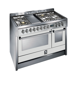 Steel G12SF-6T OT Genesi Range 120cm Brass Burner Combi-Steam Upright Cooker