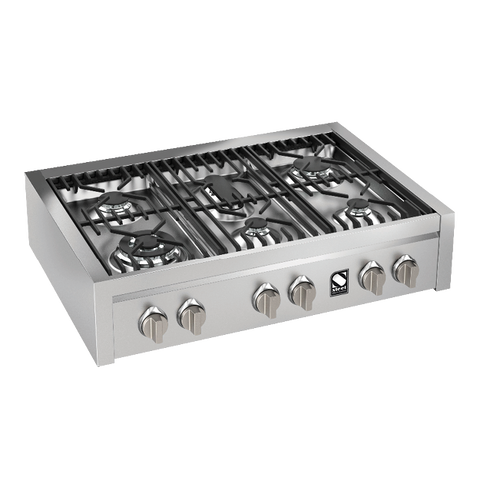 Steel G9-6 Genesi Range 90cm 6 Gas Burner Cooker
