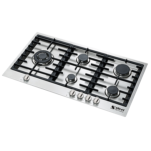 Steel GP9F-5 Genesi Range 5 Burner Gas Cooktop