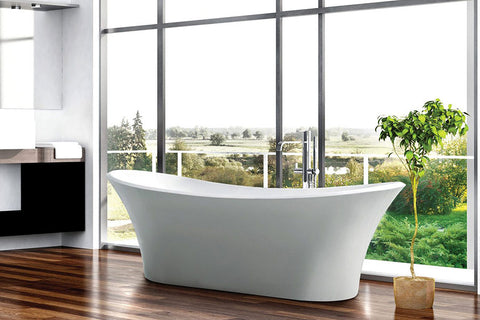Decina HI1800W Hilton 1800mm White Freestanding Bath