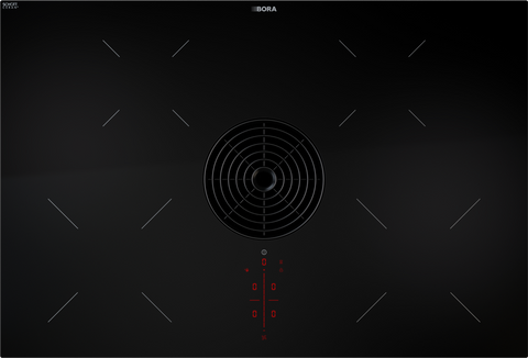 BORA PURA Pure Induction Cooktop with Integrated Cooktop Extractor - Exhaust Air