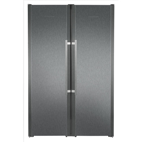 Liebherr SBSbs 7253 BlackSteel Freestanding Side by Side Fridge