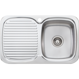 Oliveri LL117 Lakeland Single Bowl Sink With Drainer