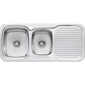 Oliveri LL136 Lakeland 1 & 3/4 Bowl Sink With Drainer