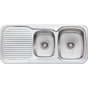 Oliveri LL137 Lakeland 1 & 3/4 Bowl Sink With Drainer