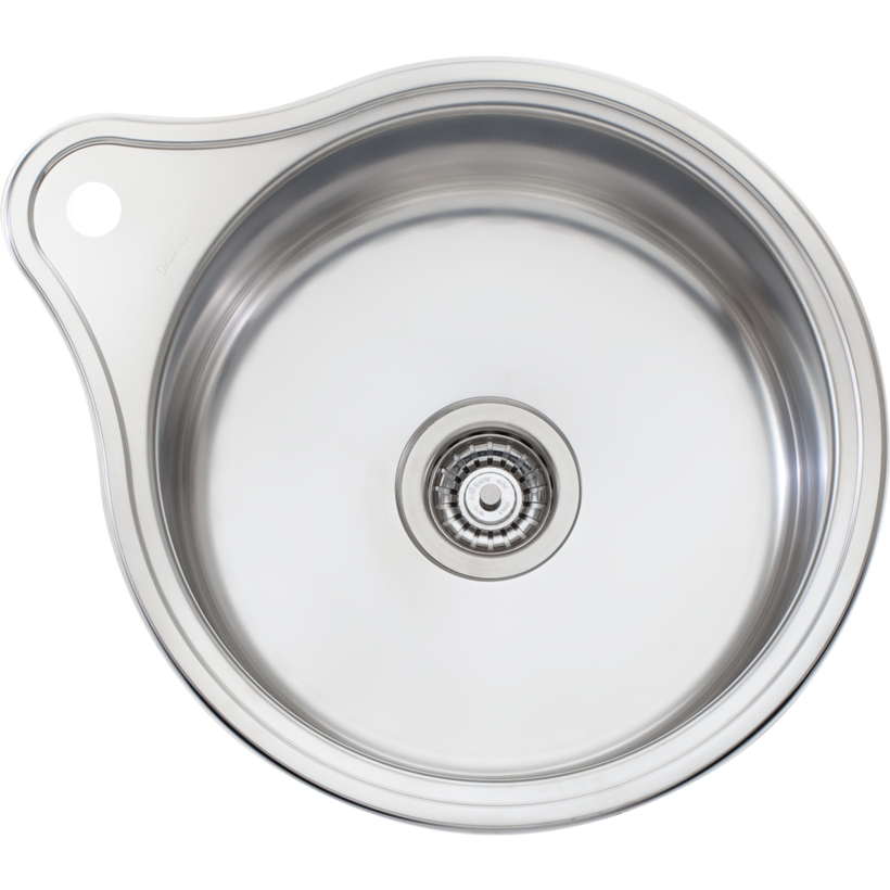 Oliveri LR515 Solitaire Round Bowl Sink With Tap Landing