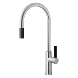 Armando Vicario LUZ-1BC Brushed Chrome Gooseneck Pull-out Mixer