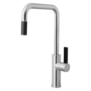 Armando Vicario LUZ-BC Brushed Chrome Kitchen Mixer with Pull-out