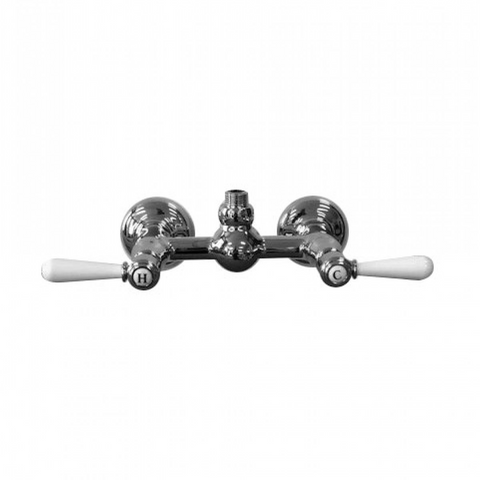 Nicolazzi 2625W Brenta Exposed Shower Breech with White Lever Handles