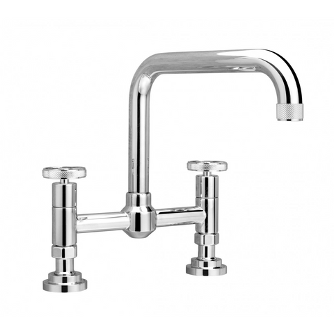 Nicolazzi Z3358 Two Taphole Bridge Kitchen Sink Mixer Swivel Spout