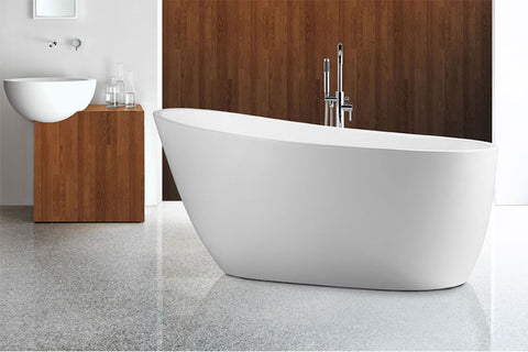 Decina PI1400W Piccolo 1400mm White Freestanding Bath
