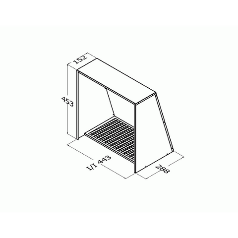 Qasair WVC-350 Wall Vent Cover for Triple Motor