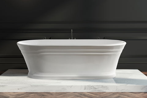 Decina RE1700W Regent 1700mm White Freestanding Bath