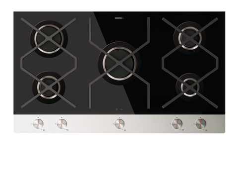SchweigenIN INGG90B 90cm Ceramic Black Glass Gas Cooktop