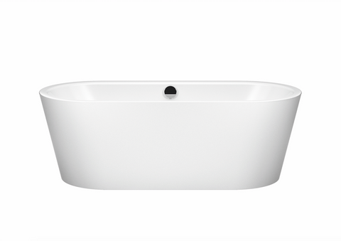 Kaldewei 01-1111-06W 1800mm Freestadning Meisterstuck Classic Duo Oval Bath with White Overflow