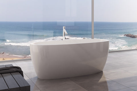 Decina SH1600W Sheraton 1600mm White Freestanding Bath