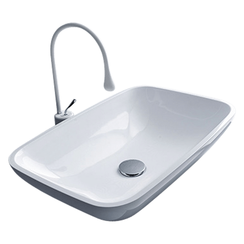 Mastelladesign SM25 Ilkos Silky Smooth White Mitek Finish Wash Basin