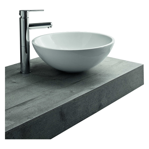 Mastelladesign SM55 Tondo White Finish Above Counter Basin