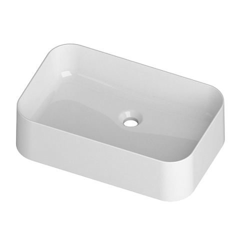 Mastelladesign SM84 Sirio Silky Smooth White Finish Countertop Ceramic Basin