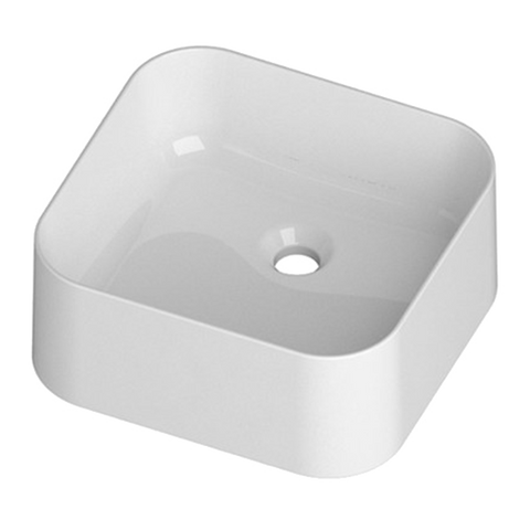 Mastelladesign SM85 Mizar Silky Smooth White Finish Countertop Ceramic Basin