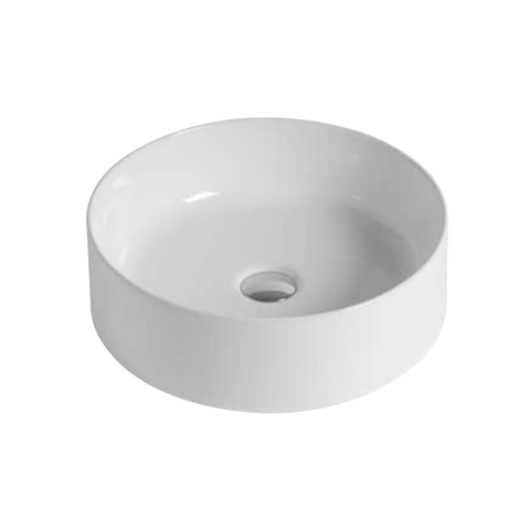 Mastelladesign SM86 Sole Silky Smooth White Finish Countertop Ceramic Basin