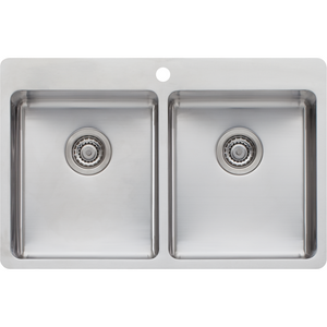 Oliveri SN1064 Sonetto Double Bowl Topmount Sink
