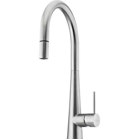 Oliveri SS2525 Essente Stainless Steel Goose Neck Pull Out Mixer