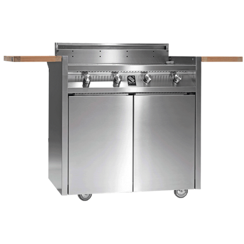 Steel I9C-4 BBQ Range Stainless Steel cart BBQ with Four Burner Grill