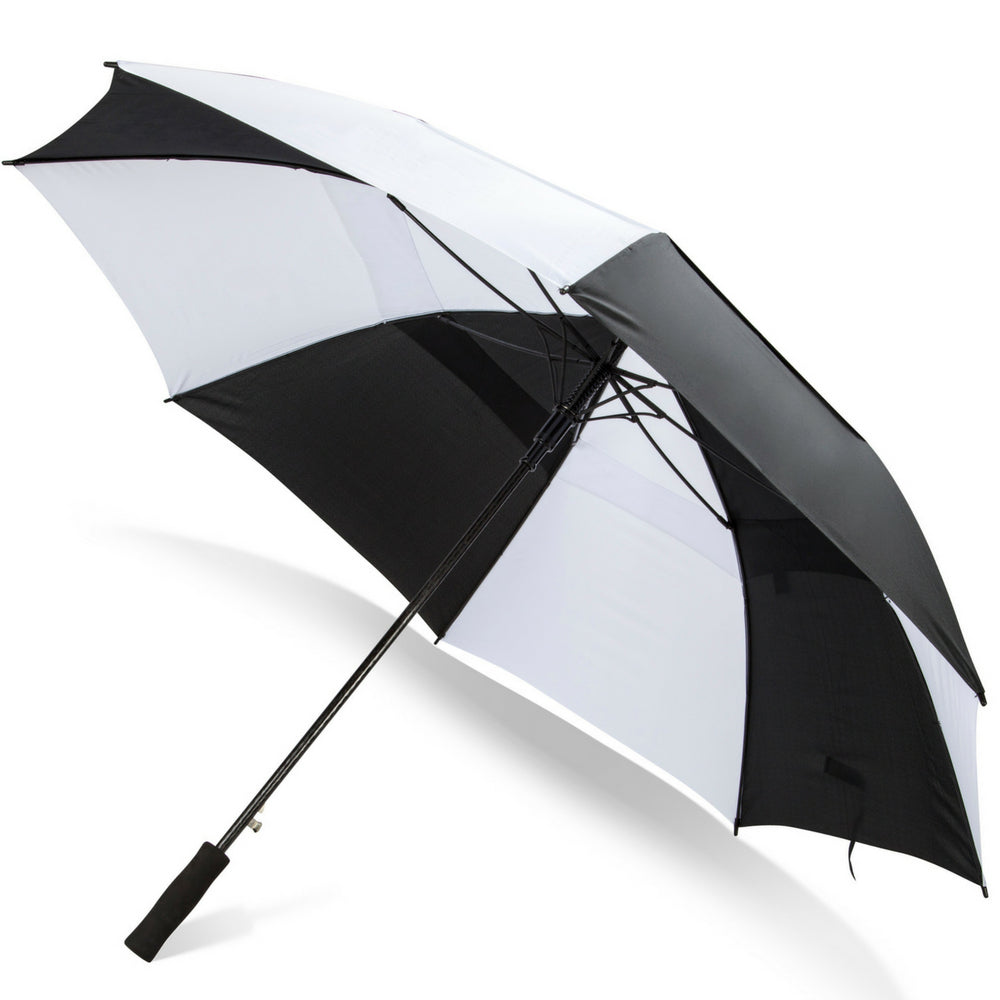 07582470176419 Load image into Gallery viewer, 62 Inch Automatic Open Golf Umbrella - Black /White ...